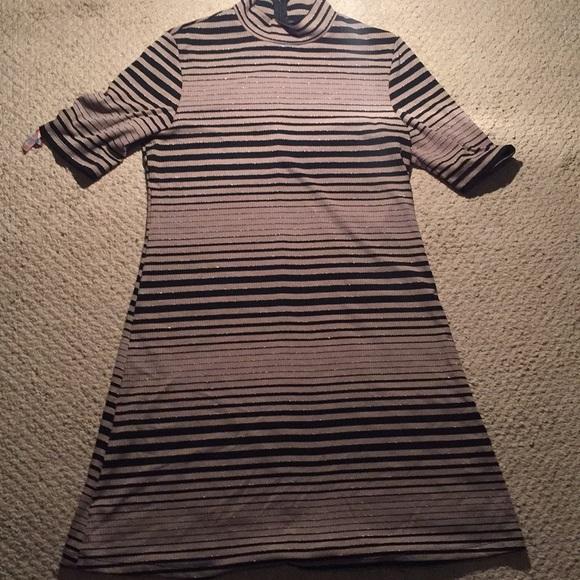 Dresses & Skirts - Black striped dress